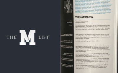 Thomas named one of the 200 most inspiring marketing professionals in Denmark