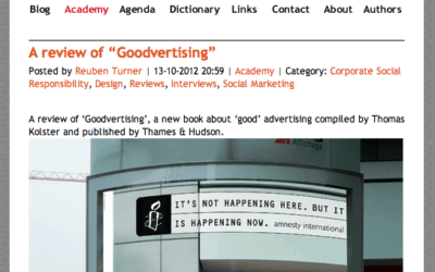 Review of Goodvertising by oscocio