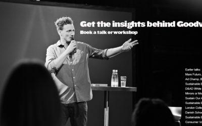 Book a talk or workshop