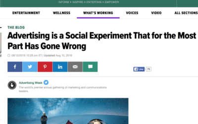 Advertising is a Social Experiment That for the Most Part Has Gone Wrong