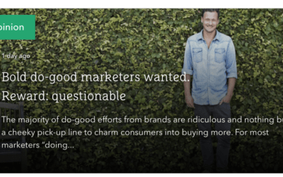The Drum: Bold do-good marketers wanted. Reward: questionable