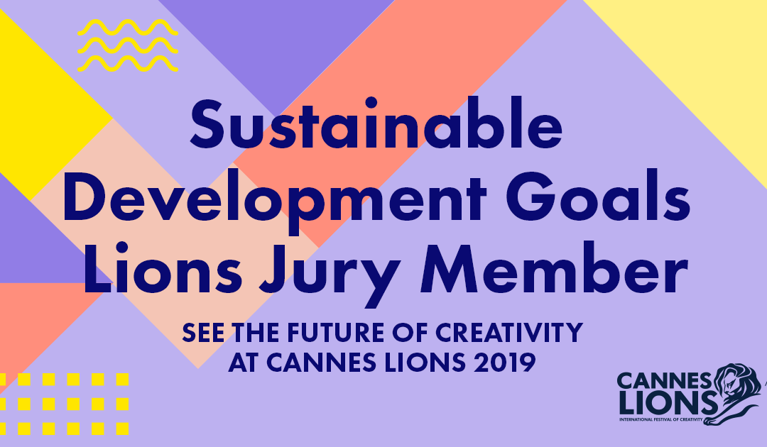 Thomas joins the Cannes Lions 2019 SDG Jury